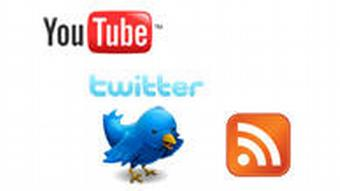 Logos from Twitter RSS und Youtube.