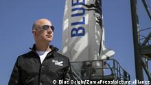 March 30, 2017 - FILE - JEFF BEZOS, Amazon (AMZN) founder and CEO, is now the second-richest person on the planet. Bezos' wealth climbed to $75.6 billion on Wednesday, according to the Bloomberg Billionaires Index. Pictured: Nov 24, 2015 - Van Horn, Texas, U.S. - Bezos, founder of Blue Origin, inspects New Shepard's West Texas launch facility before the rocket's maiden voyage. The New Shepard space vehicle successfully flew to space, reaching ian altitude of 329,839 feet. The New Shepard spacecraft, a reusable sub-orbital rocket and capsule is designed to boost passengers out of Earth's atmosphere for brief forays in space