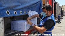 35 UN humanitarian aid trucks enter northwest Syria through the Bab al-Hawa border crossing with Turkey on June 1, 2021 June (Photo by Muhammad al-Rifai/NurPhoto)