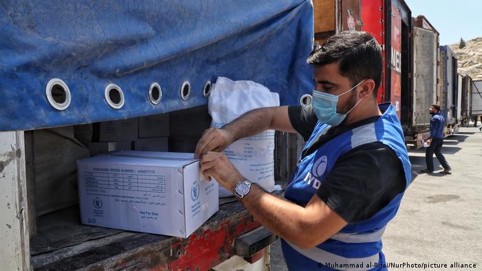Türkei Syrien l Humanitäre Mittel am Grenzübergang Bab al-Hawa