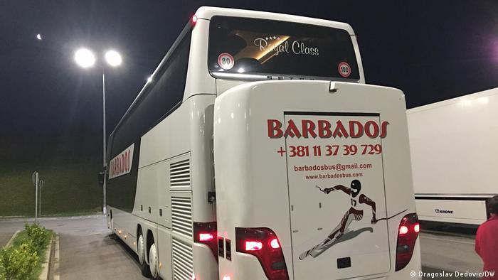 Serbischer Reisebus