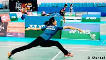 Mahoor Shahzad playing badminton