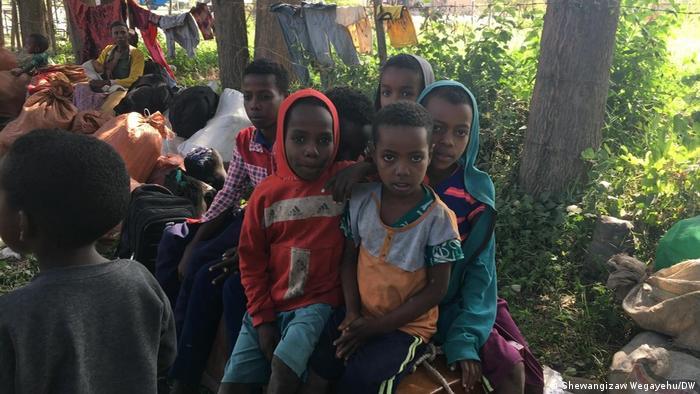 Äthiopien Vertriebene in Guraferda