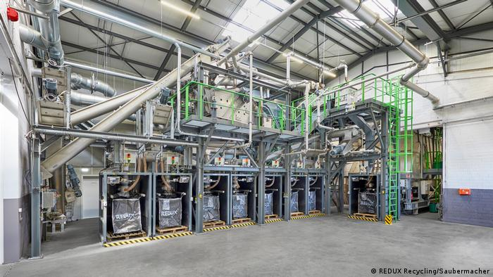 Pitcture of a sorting plant at the Redux company