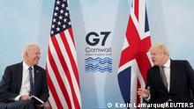 Großbritannien G7 l US Präsident Biden trifft PM Johnson in Cornwall