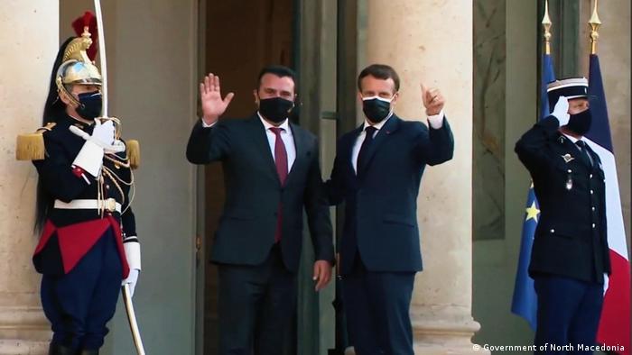 Frankreich Premierminister Nordmazedoniens Zoran Zaev trifft Präsident Emmanuel Macron