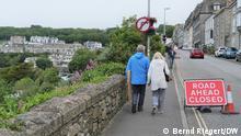 England G7-Treffen Straßensperrung in St. Ives