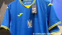 1. Neues Trikot für die ukrainische Nationalmannschaft Ort: Kiew Datum: Juni 2021 Tags: Ukraine, Kiew, Fußball, Euro-2020 (c) Oleksandra Indyukhova via Inna Zavgorodnya
