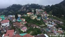 11.6.2021, Indien, Masoorie, Blick auf die Himalaya-Bergstadt Masoorie in Uttarakhand in Indien; In der Stadt Mussoorie wird ein 3 KM lang Tunnel gebaut. Da gibt es streit mit Umweltschützern.