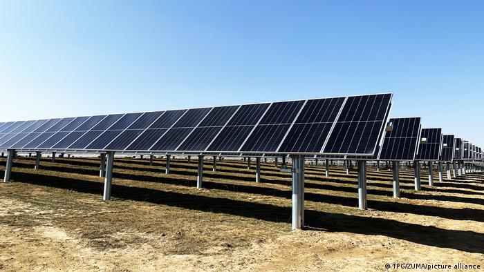 Solar panel park in Qinghai, China