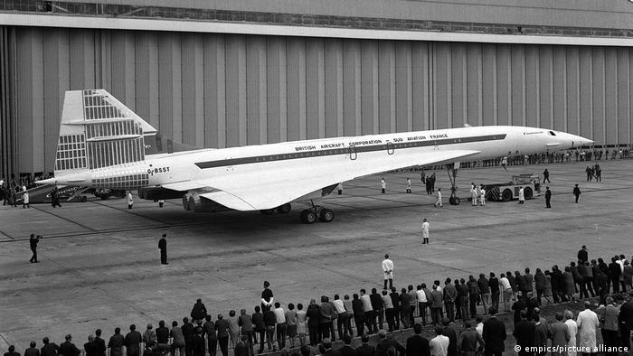 Надзвуковий пасажирський літак Concorde виробництва 1968 року