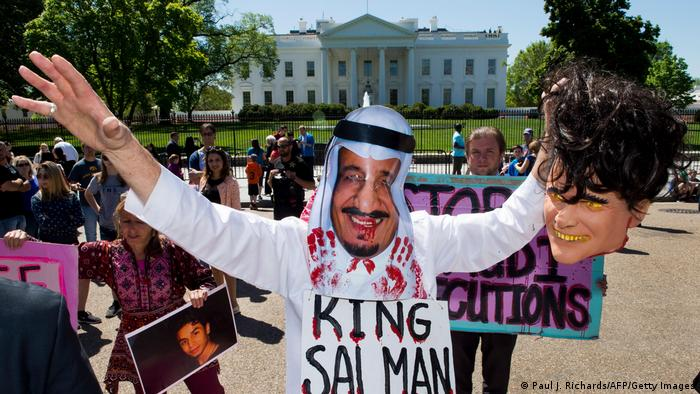 USA | Proteste gegen die saudi-arabische Regierung