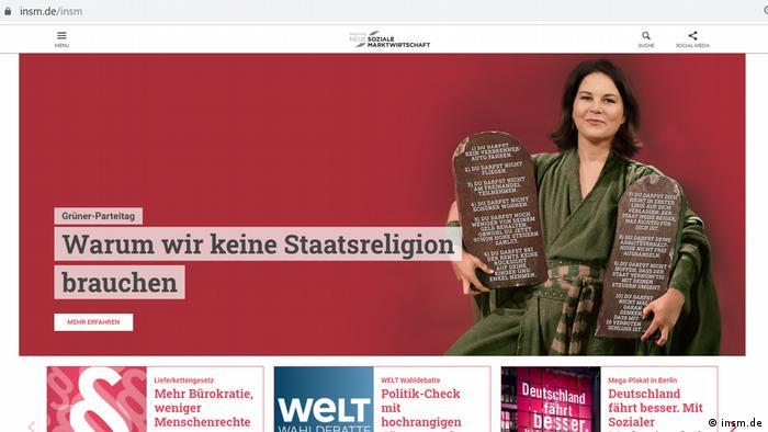 Screenshot INSM Kampagne gegen Baerbock
