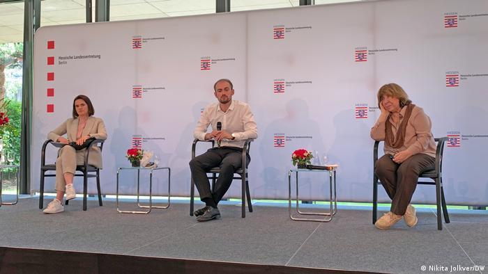 Светлана Тихановская, Алексей Полуян и Светлана Алексиевич в Берлине
