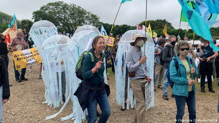 G7 protesters take part in demonstrations