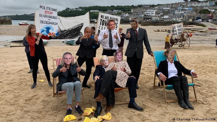 G7-Treffen | Extinction Rebellion Proteste in St Ives 2021