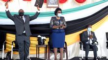 Amtsantritt von António Njanje Supeia als Staatssekretär der Provinz Cabo Delgado, Mosambik, und Ana Comoana, Ministerin für Staatliche Verwaltung.