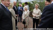 UK G7-Gipfel im Gartenanlage Eden Project in Cornwell