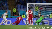 Soccer Football - Euro 2020 - Group A - Turkey v Italy - Stadio Olimpico, Rome, Italy - June 11, 2021 Italy's Ciro Immobile scores their second goal Pool via REUTERS/Filippo Monteforte