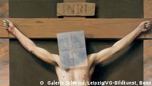 Michael Triegel: Kreuzigung, 2001 Acryl und Öl auf Leinwand, 220 x 120 cm Museum am Dom, Würzburg Bildnachweis: Galerie Schwind, Leipzig Bildrecht: VG-Bildkunst, Bonn