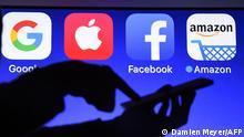 Google Amazon Facebook Apple app icons