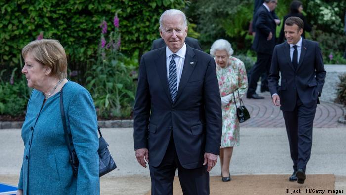 Kanzlerin Angele Merkel und US-Präsident Joe Biden beim G7-Gipfel im Juni in Cornwall