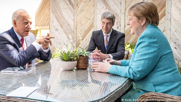 UK G7 2021 Cornwall | Biden, Merkel und Jan Hecker