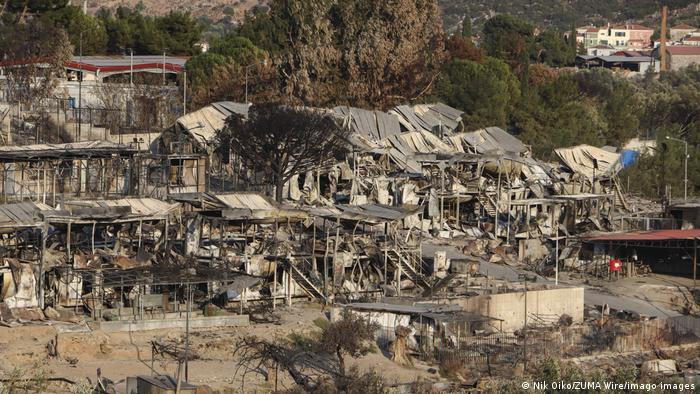 Griechenland | Flüchtlingslager Moria nach Feuer