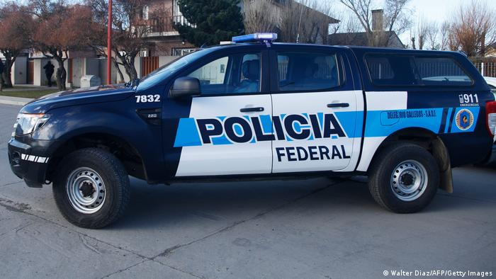 Foto simbólica de un carro de la Policía Federal de Argentina