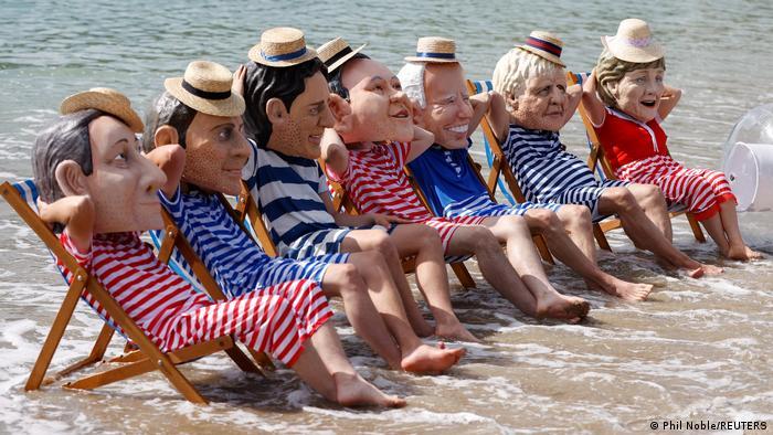BdTD G7 Gipfel Großbritannien Cornwall Protest