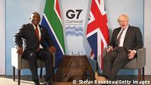 England | G7 Gipfel 2021 | Boris Johnson und Cyril Ramaphosa