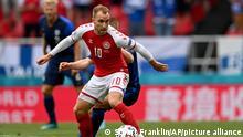 Christian Eriksen beim Gruppenspiel Dänemark-Finnland