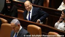 Israel Bennett und Netanjahu in der Knesset
