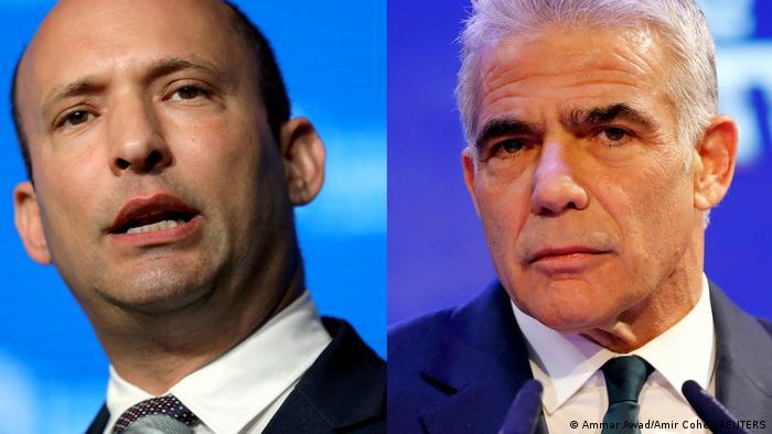 İsrail Başbakanı Naftali Bennett (solda) ve halefi olması planlanan Yair Lapid