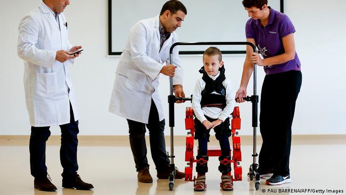 Spinale Muskelatrophie - Exoskelett
