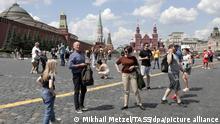 Russland Moskau Coronavirus