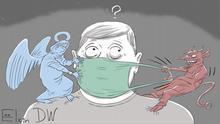 Karikatur Sergey Elkin | Russland und medizinische Masken