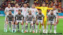 (c) Petr Stojanovski/DW 1. Fußball Mannschaft Nordmazedoniens bei der Euro2020 vor dem Spiel gegen Österreich. Bukarest, 13.06.2021