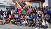 زیونا چانا با فرزندان و نواسههایش
