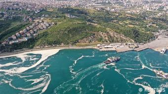 Aerial view of sea snot in Istanbul