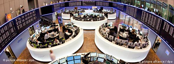 A view of the trading floor at the Frankfurt Stock Exchange