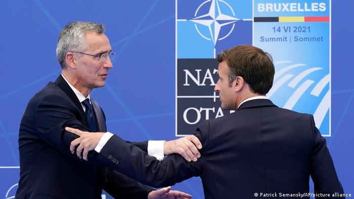 Brüssel NATO Gipfeltreffen | Stoltenberg und Macron