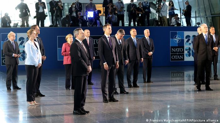 Líderes de países-membros da Otan reunidos em Bruxelas