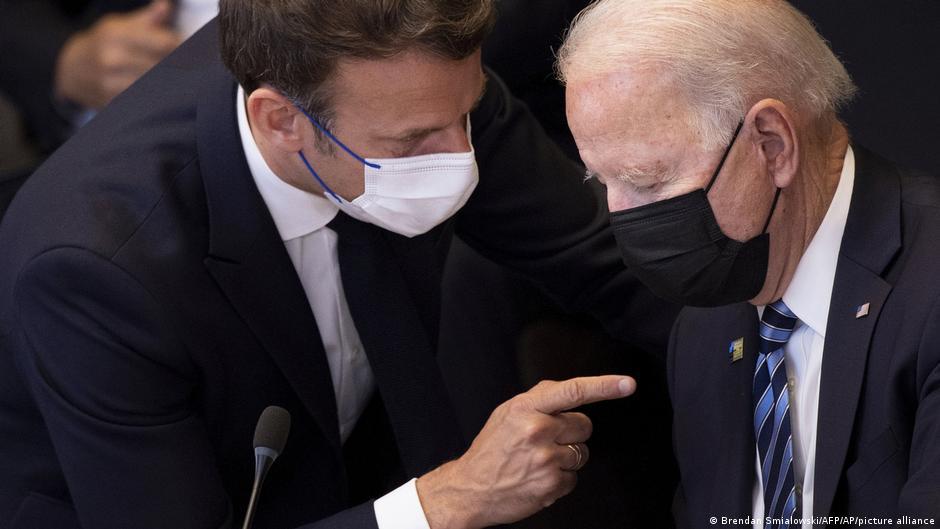 美國總統拜登與法國總統馬克龍預計未來幾日會通話。