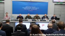 Weißrussland Minsk | Pressekonferenz Roman Protassewitsch