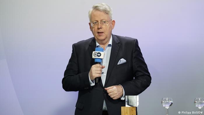 پتر لیمبورگ، مدیرعامل دویچه وله در همایش جهانی رسانههاز دوشنبه ۱۴ ژوئن، بن