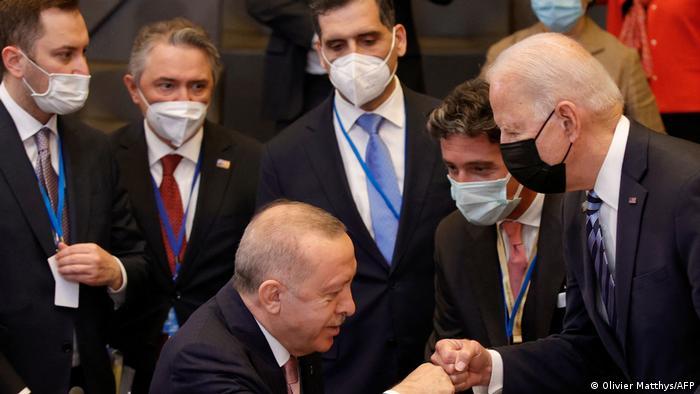 Brüssel NATO Gipfeltreffen l Erdogan und Biden