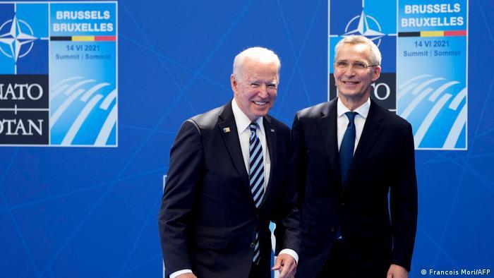 Brüssel NATO Gipfeltreffen l Stoltenberg und Biden