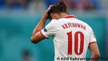 Russland St. Petersburg   UEFA Euro 2020   Rote Karte Krychowiak