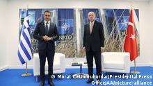 Brüssel NATO l Präsident Erdogan trifft Premierminister Mitsotakis